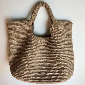 Handbags - Large Market Natural Rafia Woven Tote